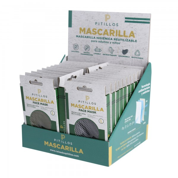 Mascarilla reutiliz.niños exp.24und.t-s