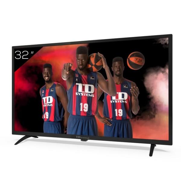 Td systems k32dlk12h televisor 32'' lcd direct led hd ready hdmi usb dolby digital plus